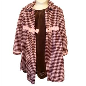 Holiday Editions matching dress and coat 5T